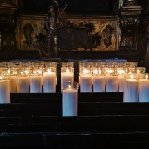 Whenever I go to a Church or Cathedral, I always pay to light a candle for someone I have lost (mine is the one splat bang in the middle). Whether or not you're particularly religious, it's hard to deny that Churches and Cathedral's are pretty magical.